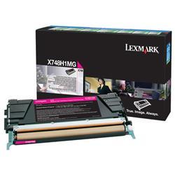 Lexmark X748 Return Programme Toner Cartridge High Yield Magenta Ref X748H1MG
