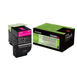 Lexmark 702XM Toner Cartridge Extra High Yield Magenta Ref 70C2XM0