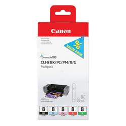 Canon Inkjet Cartridge Ref CLI-8 Multi-Pk Black/Photo Colour (Pk 5) 0620B027