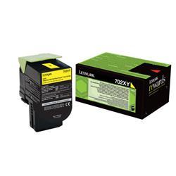 Lexmark 702XY Toner Cartridge Extra High Yield Yellow Ref 70C2XY0