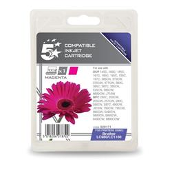 5 Star Office Compatible Inkjet Cartridge Page Life 325pp Magenta [Brother LC1100M Alternative]