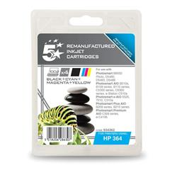 5 Star Office Remanufactured Inkjet Cartridge 4 Colour [HP No. 364 SD534EE Alternative] [Pack 4]