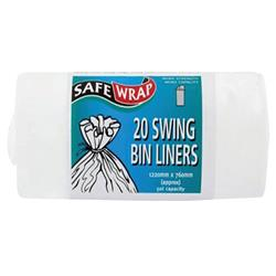 Robinson Young Safewrap Swing Bin Liners 50 litres 760 x 1220 mm Ref RY00441 (Pack 80)
