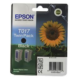 Epson Stylus Colour 680 Inkjet Cartridge Black 17ml Twin Pack T017402 Ref C13T01740210