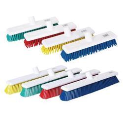Robert Scott & Sons Abbey Hygiene Broom Head Hard Washable 12in Yellow Ref 102903YELLOW