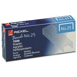 Rexel No. 25 Staples 4mm Box of 1500 Ref 05020 - Pack 20