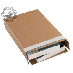 Blakes Slimline Postal Box Peel & Seal WxDxH 346x243x46mm Kraft Ref PPB40 [Pack 25]