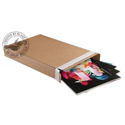 Blakes Slimline Postal Box Peel & Seal WxDxH 240x165x46mm Kraft Ref PPB20 [Pack 25]