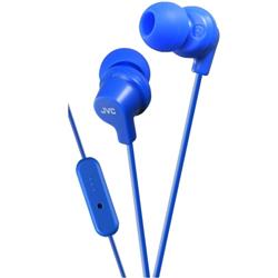 JVC In Ear Headphones One-button Mic and Remote Blue Ref HA-FR15-A-E