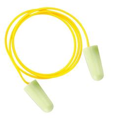 JSP SoundStop Ear Plugs Corded PU Foam Yellow Ref AEE090-060-2G1 [100 Pairs]