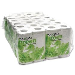 Maxima Green Toilet Roll 200 Sheets White Ref 1102004 [Pack 48]