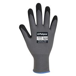 Polyco Gloves Nitrile Foam Coated H/G Size 9 Black/Red [Pair] Ref 8009GR