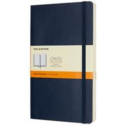 Moleskine Notebook Soft Cover Ruled 192pp 70gsm Large 130x210mm Sapphire Blue Ref QP616B20