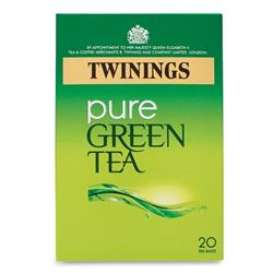 Twinings Pure Green Teabags Individually Wrapped Ref 0403258 [Pack 20]
