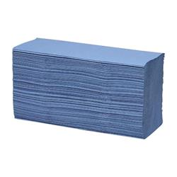 Maxima 7085 Hand Towels Z-Fold Blue 1-Ply Ref 1104063 [15 Sleeves]