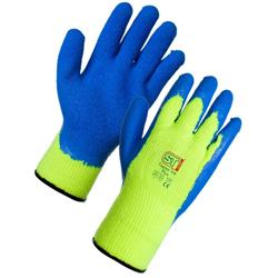 Supertouch Topaz Ice Plus Gloves Acrylic Textured Latex Palm Medium Ref 61062 [Pair]