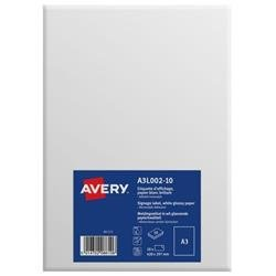 Avery Labels Premium Removable A3 White Ref A3L002-10 [Pack 10]
