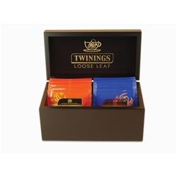 Twinings Wooden Box 2 Compartments Black Ref F13178