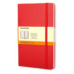 Moleskine Classic Notebook Hard Cover Ruled 240pp 70gsm Large 130x210mm Red Ref QP060R