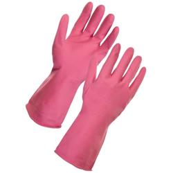 Supertouch Household Latex Gloves Medium Pink Ref 13352 [Pair]
