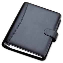 Collins Chatsworth Personal Organiser Padded With 2018 Diary Insert 172x96mm Black Ref PR2999