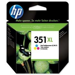 Hewlett Packard HP No. 351 Inkjet Cartridge High Yield Page Life 580pp 74g Colour Ref CB338EE