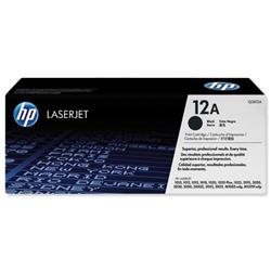 Hewlett Packard HP No. 12A Laser Toner Cartridge Page Life 2000pp Black Ref Q2612A