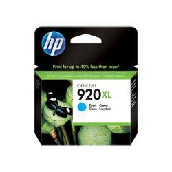 Hewlett Packard HP No. 920XL Cyan Officejet Inkjet Cartridge for Officejet 6500 Ref CD972AE - Up to £30 Cashback