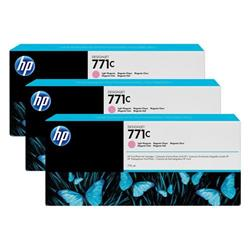 HP Light Magenta 771C Designjet Ink Cartridge 775ml Pk 3 Ref B6Y35A