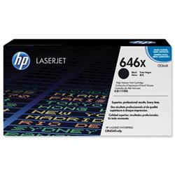 Hewlett Packard HP No. 646X Laser Toner Cartridge High Yield Page Life 17000pp Black Ref CE264X
