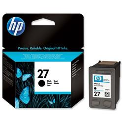 Hewlett Packard HP No. 27 Black Inkjet Print Cartridge 10ml Ref C8727AE