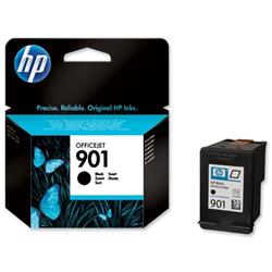 Hewlett Packard HP No. 901 Inkjet Cartridge Page Life 200pp Black Ref CC653AE