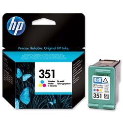 Hewlett Packard HP No. 351 Tri-colour Inkjet Cartridge Ref CB337EE