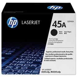Hewlett Packard HP 45a Black Laser Toner Cartridge for LaserJet 4345 Ref Q5945A