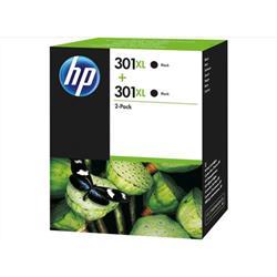 HP 301XL 2-pack High Yield Black Original Ink Cartridges (D8J45AE)