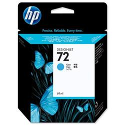 Hewlett Packard HP No 72 Cyan Inkjet Cartridge Ref C9398A