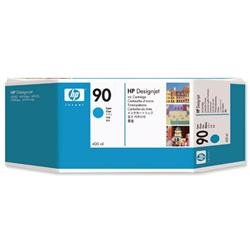 Hewlett Packard HP No. 90 Cyan Dye Ink Cartridge 400ml Ref C5061A