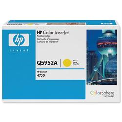 Hewlett Packard HP No. 643A Yellow Laser Toner Cartridge for Color LaserJet 4700 Ref Q5952A