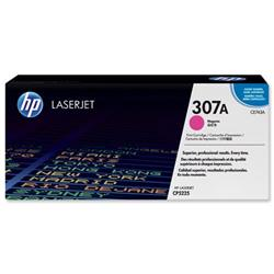Hewlett Packard HP No. 307A Laser Toner Cartridge Page Life 7300pp Magenta Ref CE743A