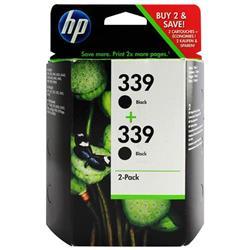 Hewlett Packard HP No. 339 Black Inkjet Cartridge 21ml Ref C9504EE - Twin Pack