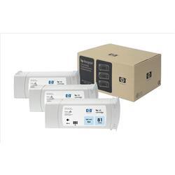 HP Inkjet Dye Cartridge No. 81 Light Cyan 680 ml Ref C5070A (Pack 3)