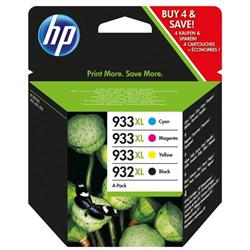 HP 932XL Black/933XL Cyan/Magenta/Yellow 4-pack Original Ink Cartridges (C2P42AE) - Claim £30 Cashback on qualifying purchases!