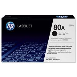 Hewlett Packard (HP) No. 80A Laser Toner Cartridge Page Life 2700pp Black Ref CF280A
