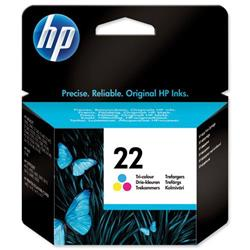 Hewlett Packard HP No. 22 Tri-Colour Inkjet Print Cartridge Ref C9352AE