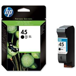 Hewlett Packard HP No. 45 Black Inkjet Cartridge 42ml Ref 51645AE-ABB