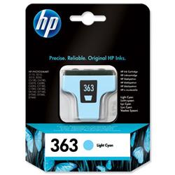 Hewlett Packard (HP) No. 363 Inkjet Cartridge Page Life 350pp 4ml Light Cyan Ref C8774EE #ABB