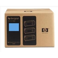 Hewlett Packard (HP) No. 90 Dye Ink Cartridge 400ml Cyan Ref C5083A [Pack 3]