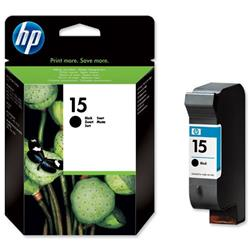 Hewlett Packard HP No. 15 Black Inkjet Cartridge 25ml for Deskjet 810C/830C/840C Ref C6615DE