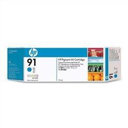 Bundle: HP Multipacks 3 x 91 Ink Cartridge (775 ml) with Vivera Ink (Cyan)