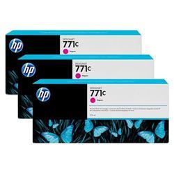 HP Magenta 771C Designjet Ink Cartridge 775ml Pk 3 Ref B6Y33A